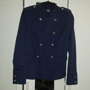 Tommy Hilfiger Navy Military Blazer Jacket Sz 10